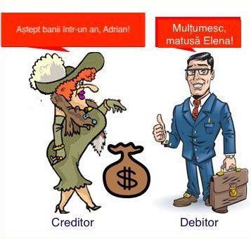 ce este debitor si creditor